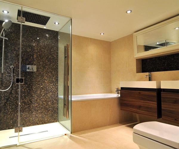 Chocolate & Caramel Color Combinations for Bathrooms