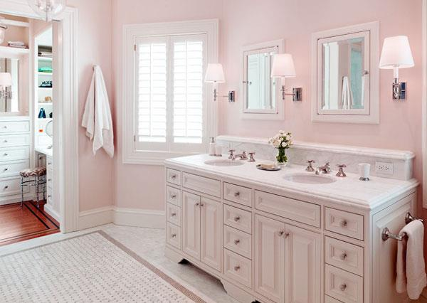 Pink & White Rose Color Combinations for Bathrooms