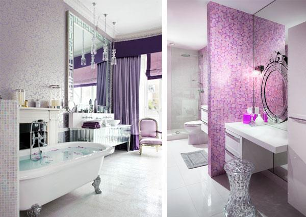 Lavender & Silver Color Combinations for Bathrooms
