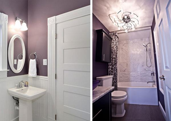 Purple White Color Combinations for Bathrooms