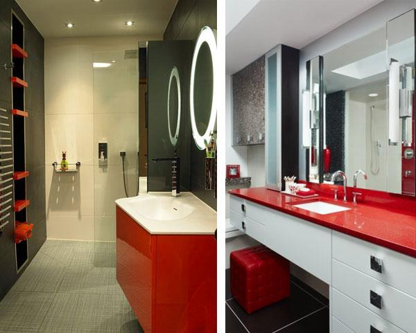 white red black Color Combinations for Bathrooms 20
