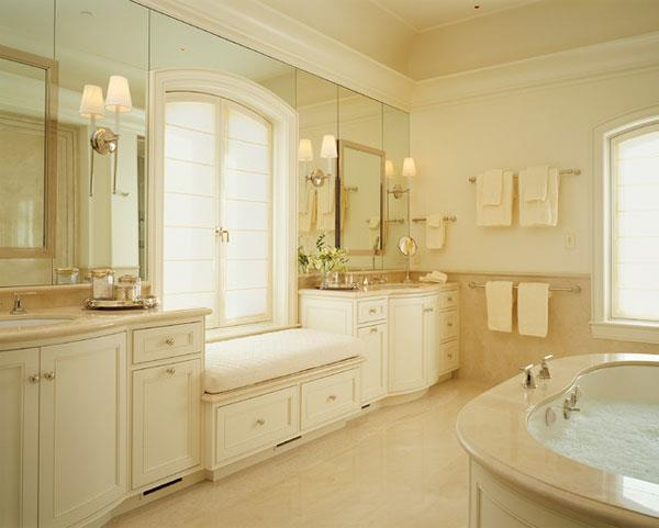 Cream & Gold Color Combinations for Bathrooms 21