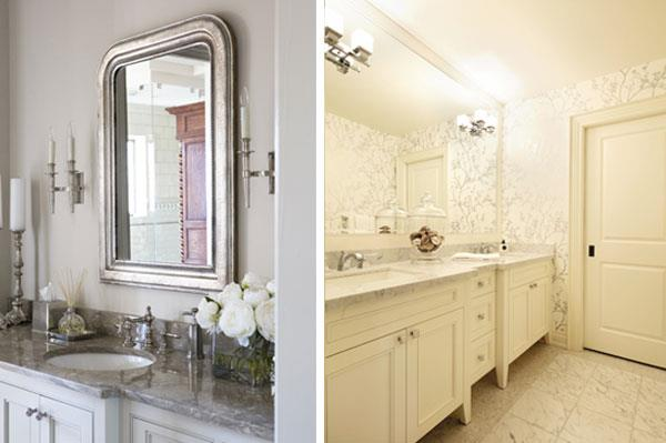 White & Silver Color Combinations for Bathrooms