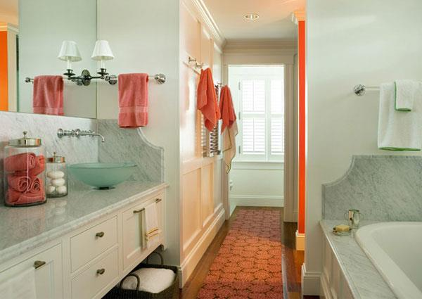 Orange Color Combinations for Bathrooms