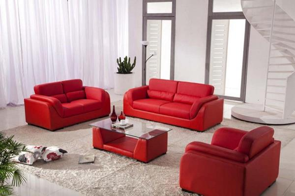 Red Living room design 12