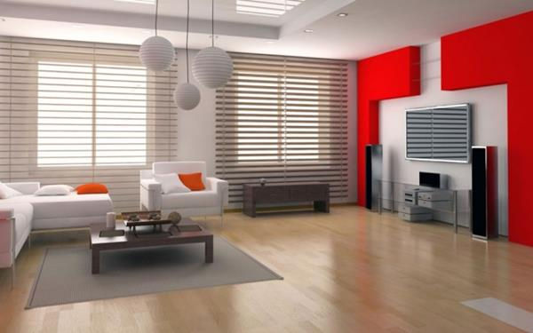 Red Living room design 2