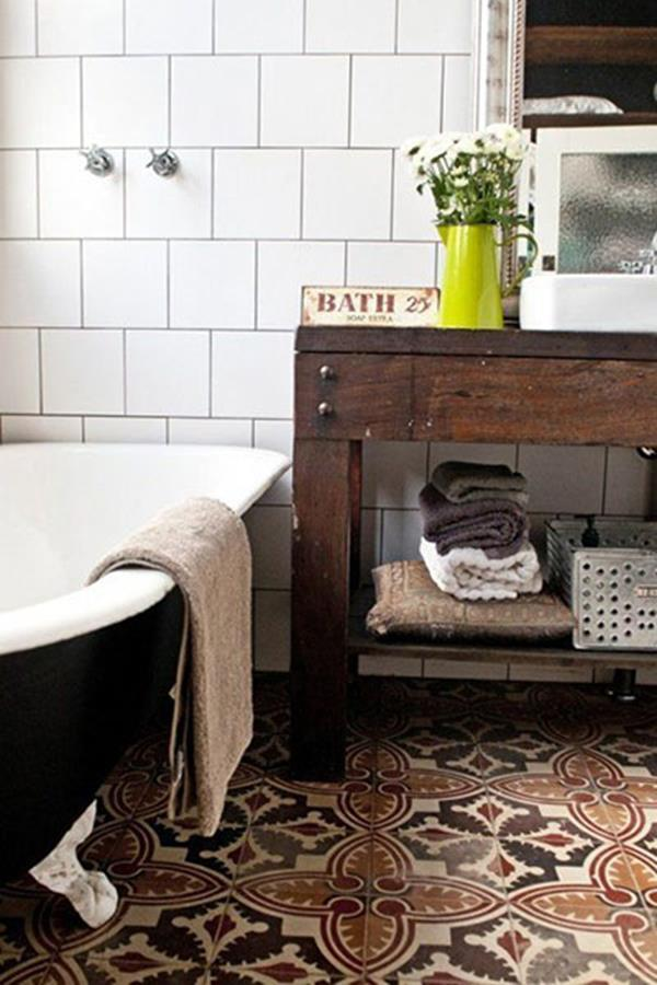 vintage bathroom interior