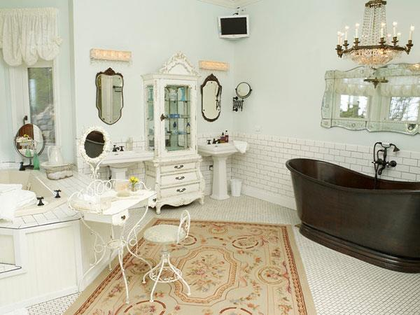 stylish vintage bathroom