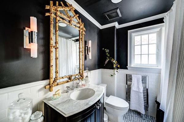 2016 modern black bathroom