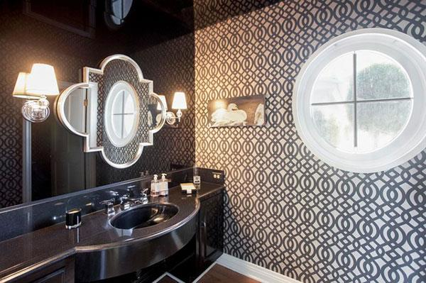 elegant black bathroom decorating
