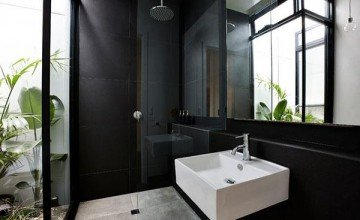 elegant black bathroom decoration