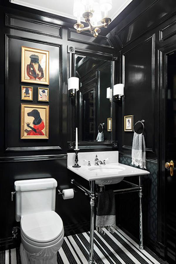 black bathroom color ideas