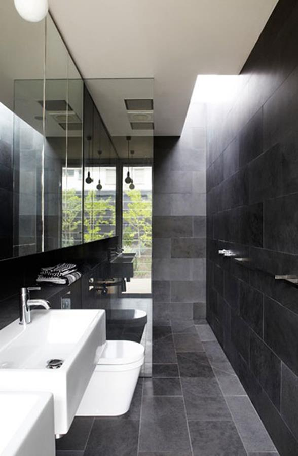 black bathroom decoration 15