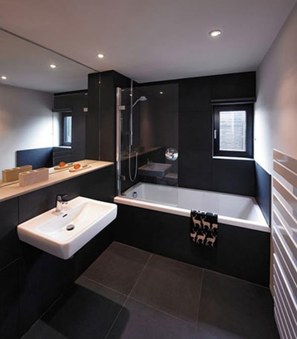 stylish black bathroom