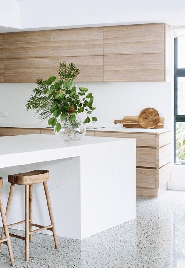 minimalist white kitchen design