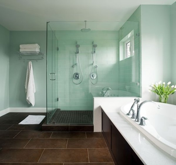 mint green bathroom