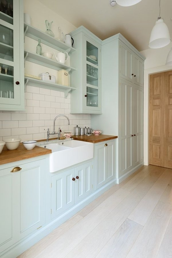 Chic Touch To Your Kitchen With Pastel Colors