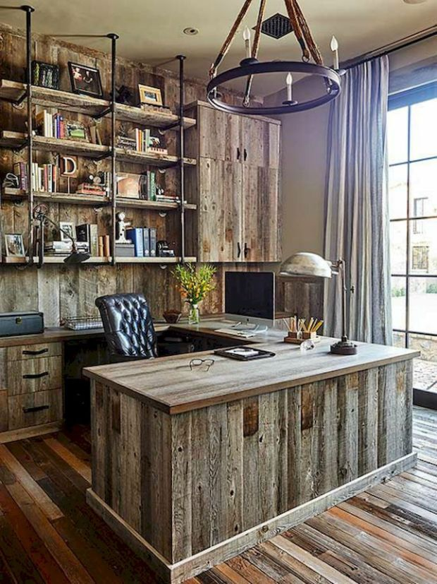 rustic home office furniture